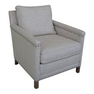 Crate & Barrel White Upholstered Club Chair