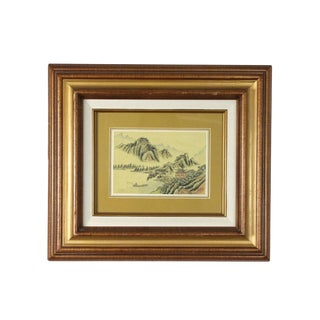 1970s Vintage Japanese Countryside Painting For Sale