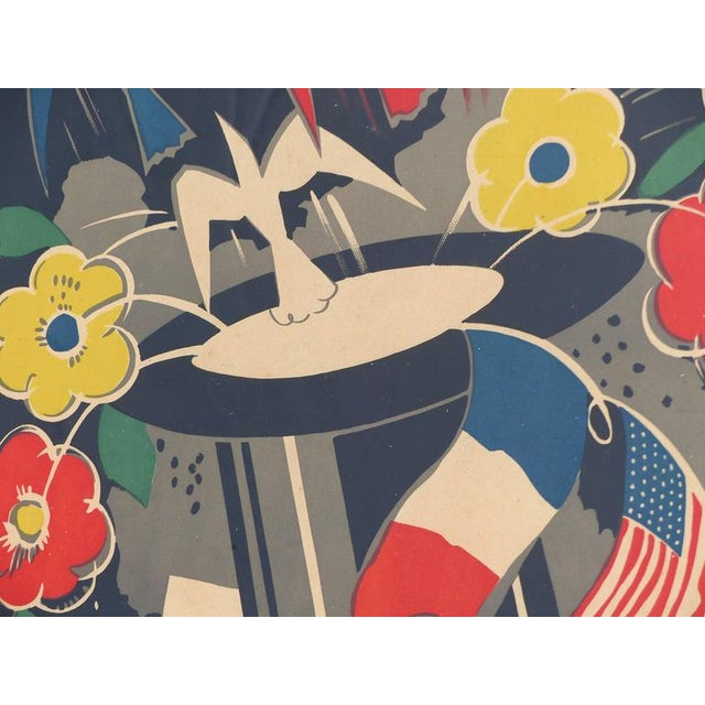 Art Deco French Art Deco Poster by George Conde For Sale - Image 3 of 8