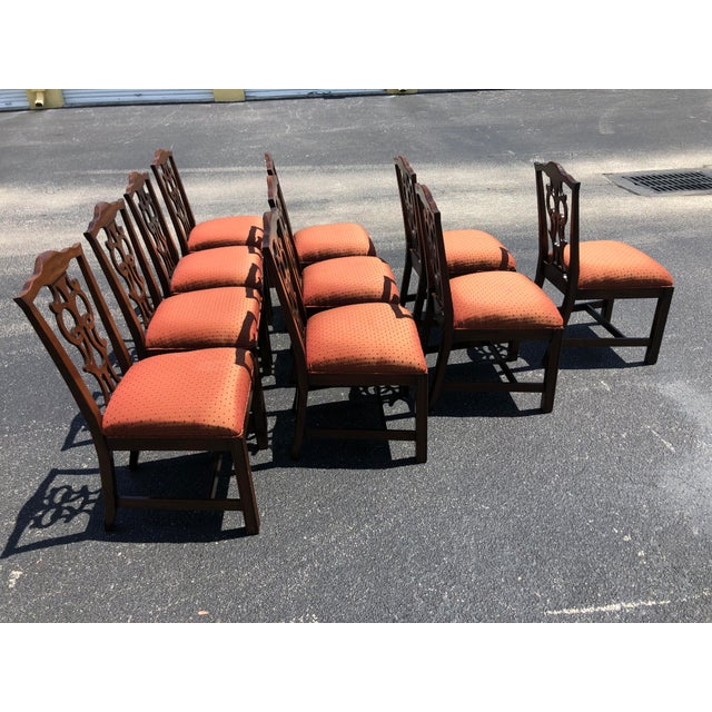 Chippendale Style Dining Chairs - Set of 10 For Sale - Image 4 of 13