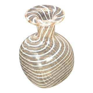 Murano Zanfirico Hand Blown Glass Perfume or Scent Bottle For Sale