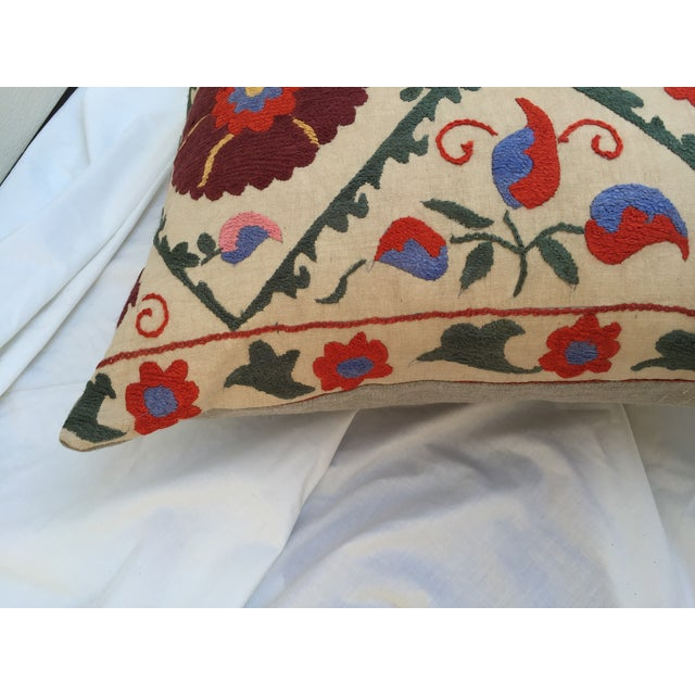 Antique Embroidered Suzani Pillow - Image 4 of 6