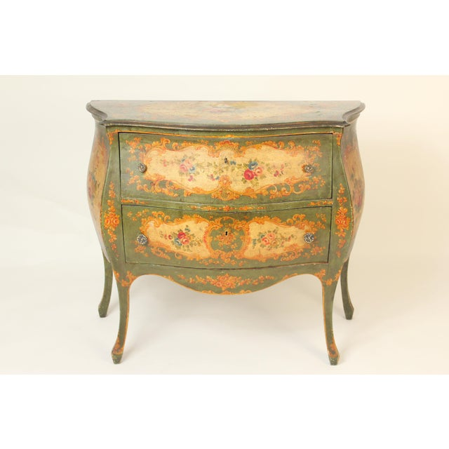 Italian Louis XV Style Painted Commode For Sale - Image 12 of 12