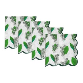 Lily-Of-The-Valley Napkins - Set of 4 For Sale