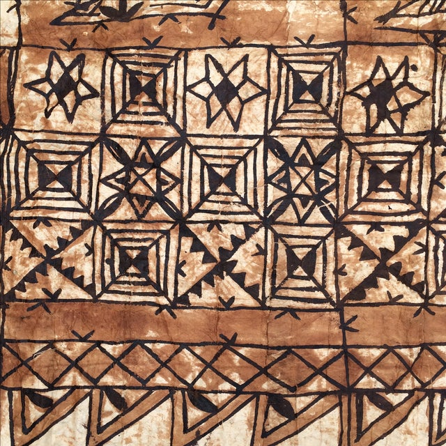 Tapa Cloth Wall Hanging For Sale - Image 7 of 10