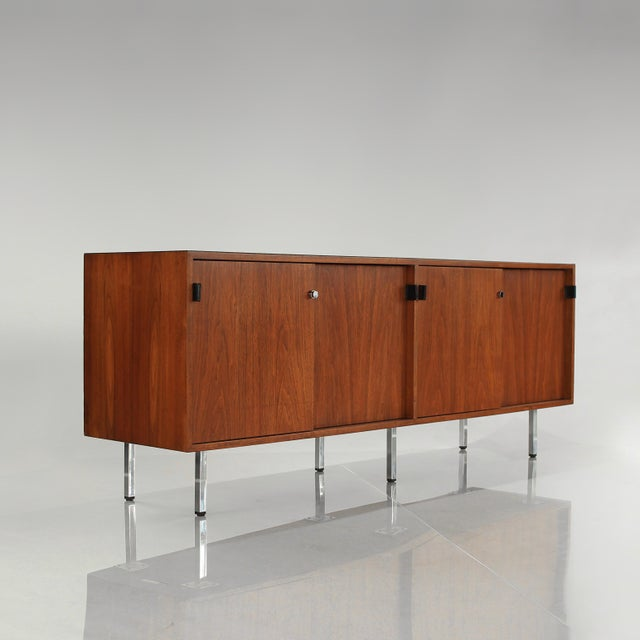 1960s Florence Knoll Walnut Credenza Sideboard For Sale - Image 13 of 13