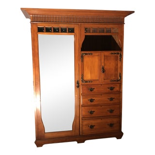 Antique Victorian Walnut Wardrobe For Sale