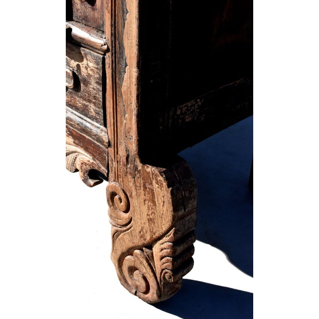 19th Century Antique Rustic Northern Chinese Cabinet For Sale - Image 9 of 13