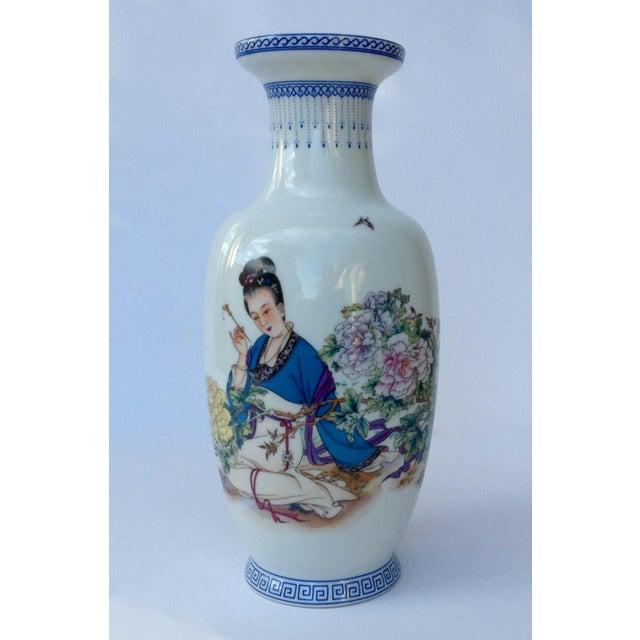 Vintage Japanese Porcelain Kutani Ceremonial Greek Key Vessel, Vase For Sale - Image 11 of 11