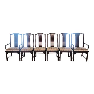 1980s Century Furniture Chin Hua Raymond Sobota Dining Chairs - Set of 6 For Sale