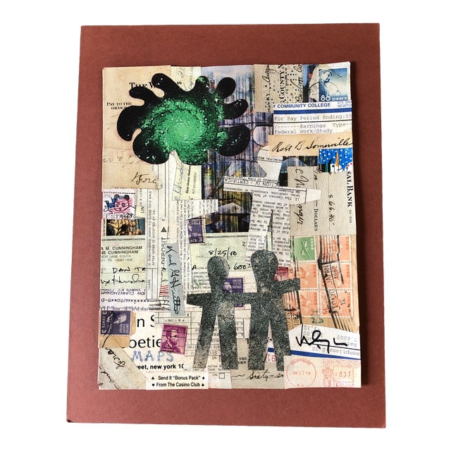 "Original Contemporary Wayne Cunningham ""Hands Across America ""Collage For Sale"