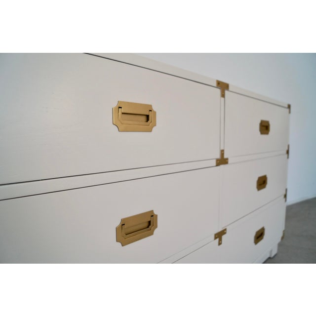 1960's Mid-Century Hollywood Regency Campaign Dresser For Sale - Image 11 of 13
