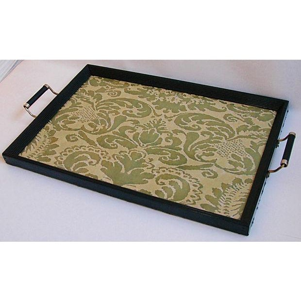 1930s Serving Tray W/ Italian Fortuny Fabric - Image 6 of 8
