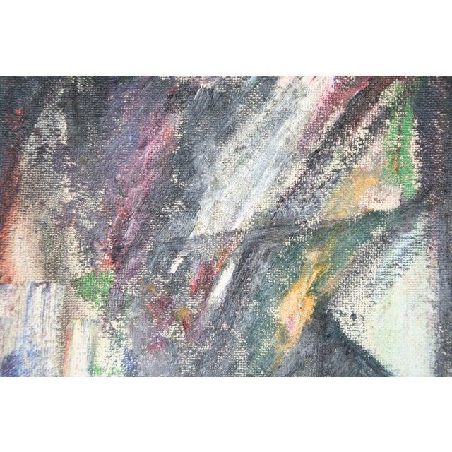 Vintage Julia Bureau Abstract Oil Painting - Image 3 of 7