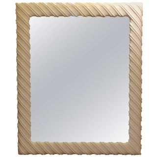 Large White Henredon Mirror