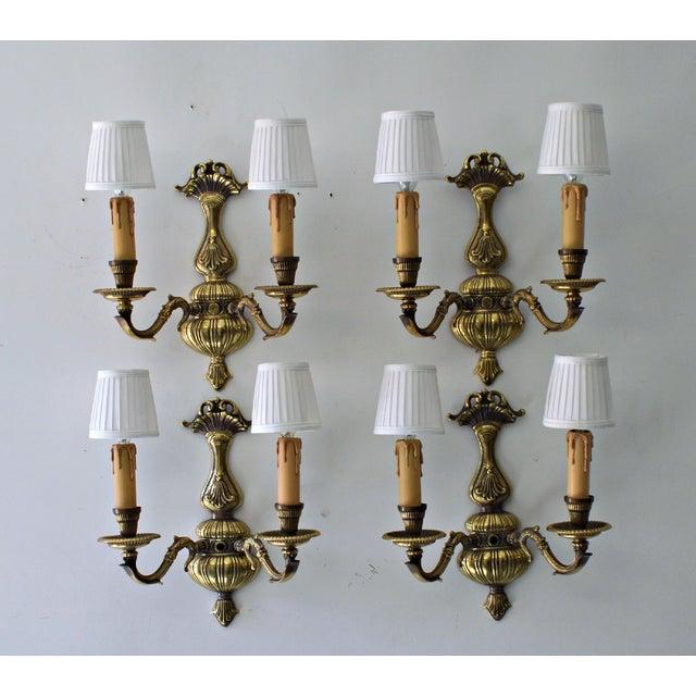 French Boudoir Sconces - Set of 4 - Image 3 of 8