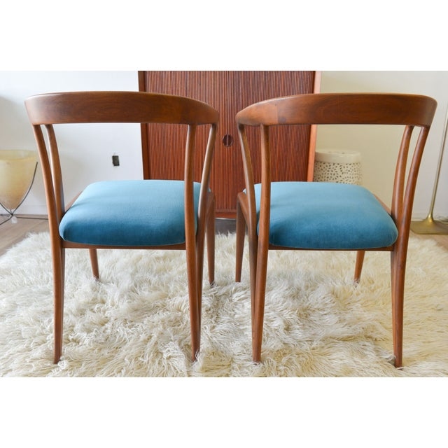 Vintage Bertha Schaefer/Gio Ponti Chairs - A Pair For Sale - Image 5 of 7