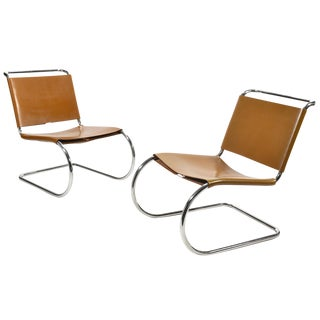Mies van der Rohe Pair of MR Lounge Chairs For Sale