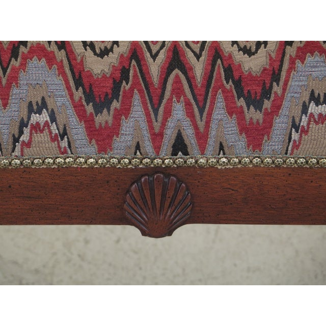 Wood Queen Anne Mahogany Window Bench For Sale - Image 7 of 12