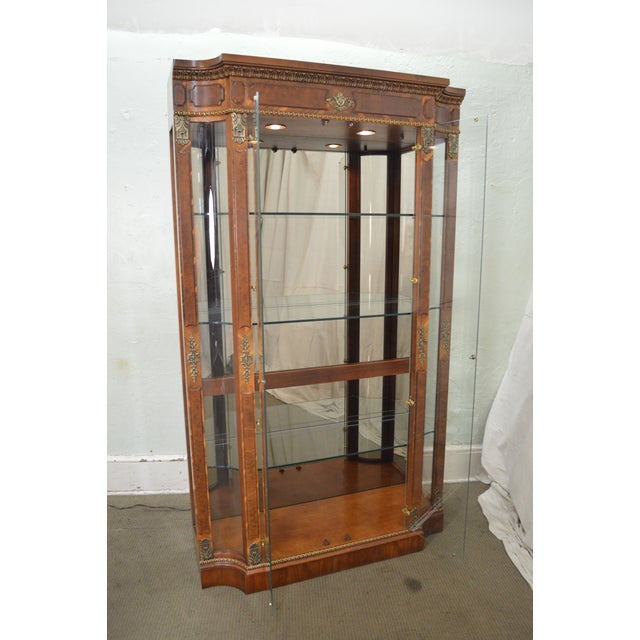 Henredon Grand Provenance French Louis XV Style Burl Wood Curio Display Cabinet For Sale In Philadelphia - Image 6 of 12