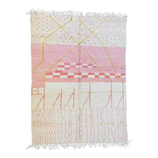 Pink Moroccan Rug - 9′10″ × 13′3″ For Sale