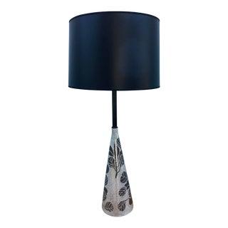 Italian Modernist Silver Leaf Lamp For Sale