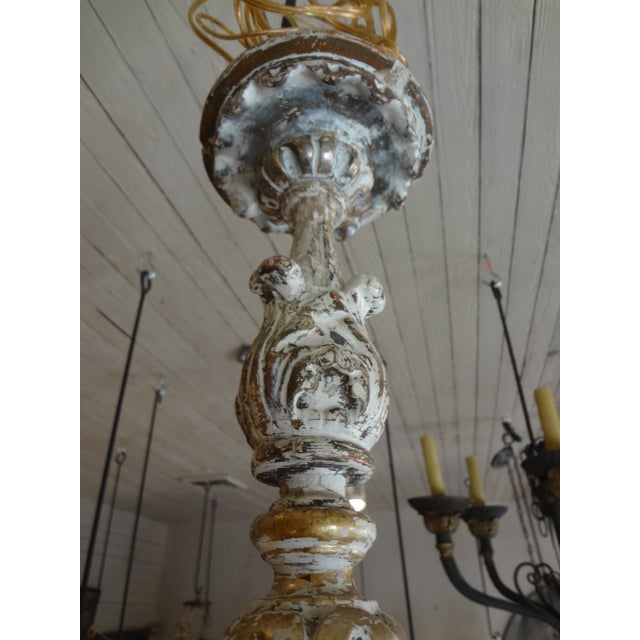 Early 19th Century 19th Century Italian Wood and Iron Chandelier For Sale - Image 5 of 11