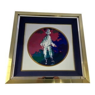 LeRoy Neiman Limited Edition Royal Doulton Pierrot 1975 Framed Artwork Plate For Sale