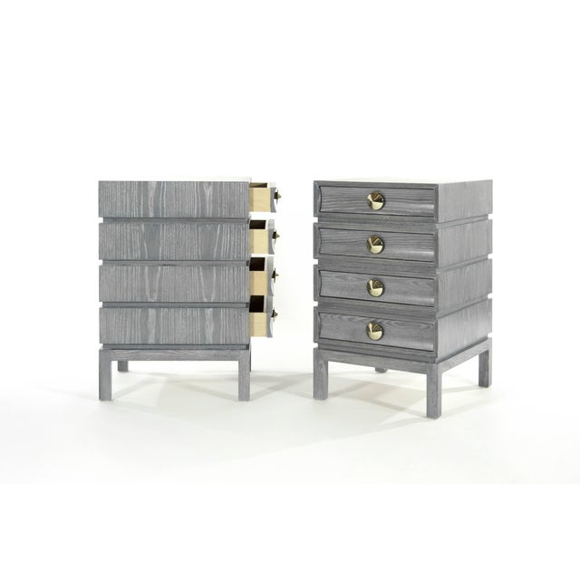 Stacked End Tables in Limed Oak For Sale In New York - Image 6 of 12