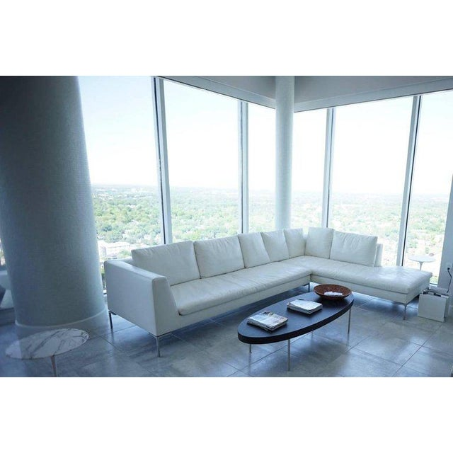 Metal B & B Lucrezia Sectional Sofa in White Leather For Sale - Image 7 of 11