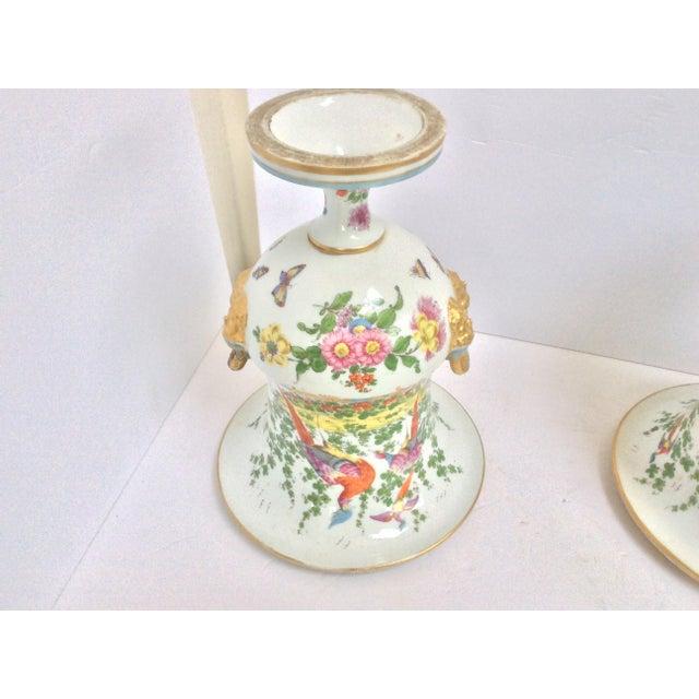 Stunning Large Pair Of Porcelain Urns - Image 6 of 7
