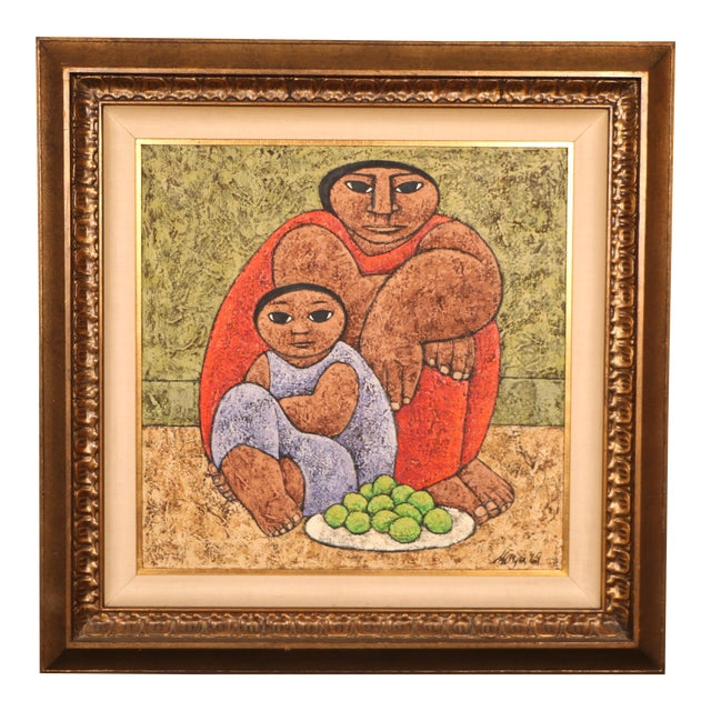 Mexican Style Oil Painting - Image 1 of 11