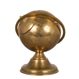 Mid-Century Brass Globe Cigarette Holder C.1960 For Sale