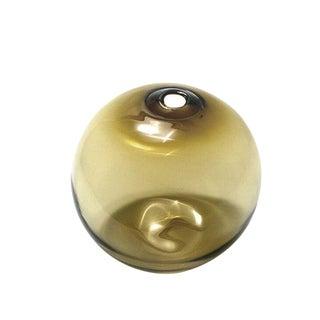 """SkLO Float Glass Vessel 6"""" - Olivin For Sale"""