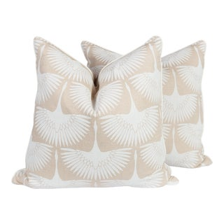Cream & Ivory Flock Pillows - A Pair