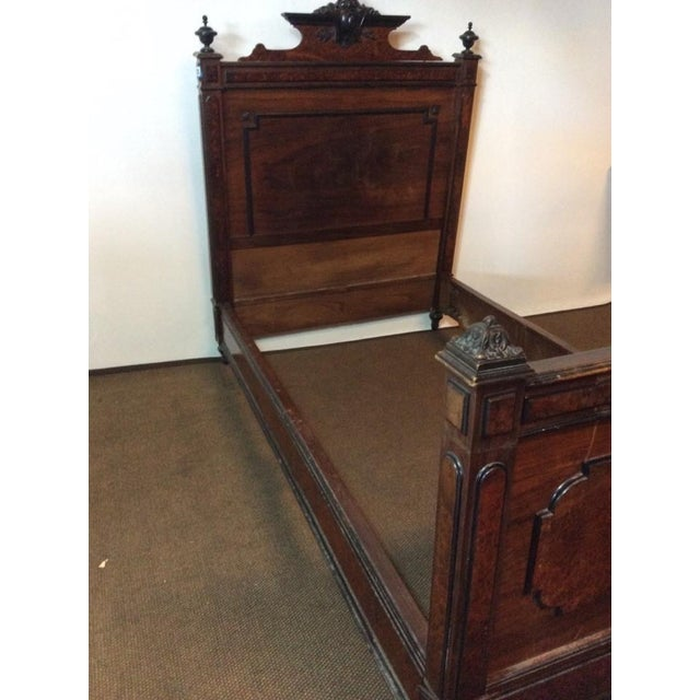 Edwardian Hardwood Full Size Vintage Bed - Image 6 of 7