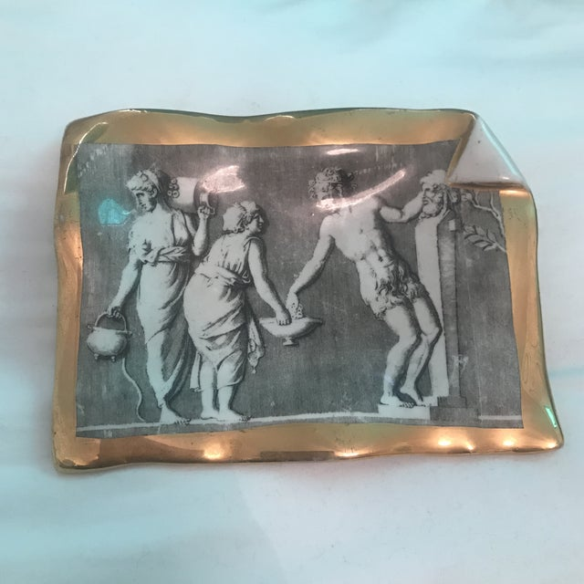 Vintage Fornasetti Milano for Bonwit Teller Tray Dish For Sale - Image 11 of 11
