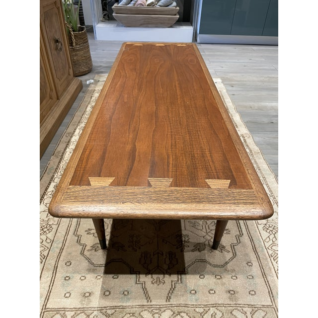 Mid 20th Century MCM Lane Acclaim Coffee Table With Ash Dovetail Detail For Sale - Image 5 of 8
