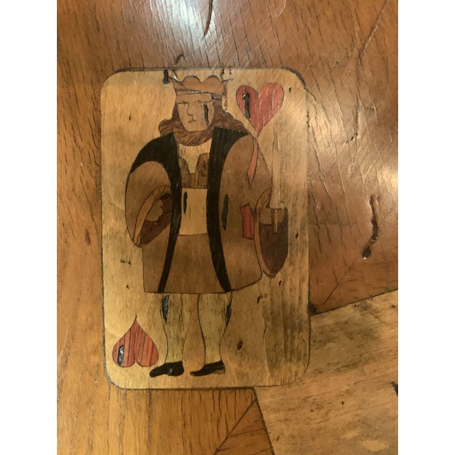Wood 19th Century English Traditional Fruitwood Game Table With Inlay For Sale - Image 7 of 13