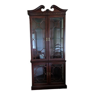 Pennsylvania House Mahogany China Cabinet For Sale