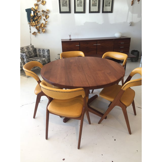 Mid-Century Modern Teak Dining Table/Chairs Set For Sale - Image 10 of 11