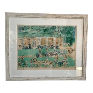 1960s Raoul Dufy Gates of Versailles Lithograph For Sale