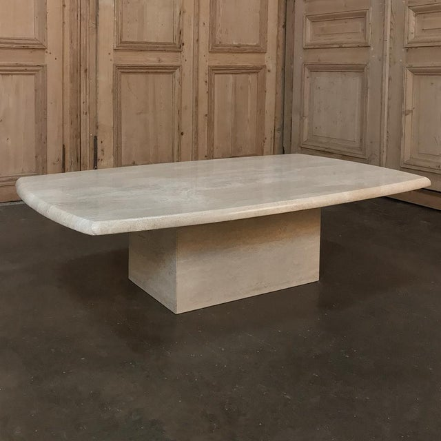 Mid-Century Modern Mid-Century Limestone Coffee Table For Sale - Image 3 of 13
