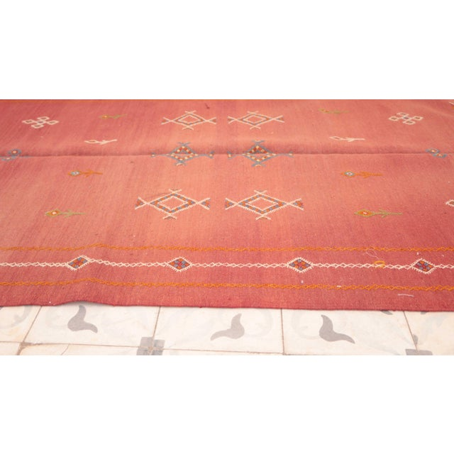 "Islamic Aknif Moroccan Rug - 3'7"" x 7'1"" For Sale - Image 3 of 4"