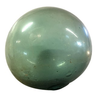 Large Antique Hand Blown Japanese Glass Float