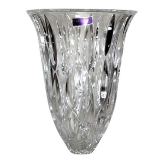 "Waterford Marquis Crystal ""Rainfall"" Flower Vase For Sale"