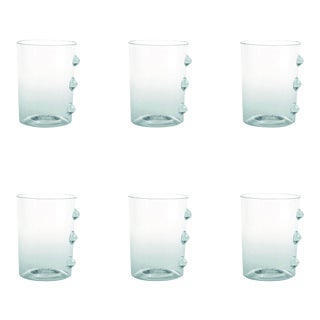 Petoni Tumbler in Transparent with Clear Dots - Set of 6 For Sale