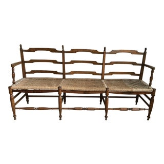 19th Century Antique French Provincial Bench For Sale