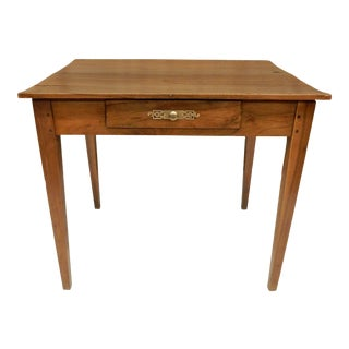 French Provincial Walnut Side Table For Sale