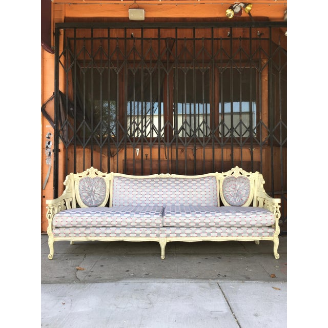Vintage Shabby Chic Style Sofa For Sale - Image 13 of 13